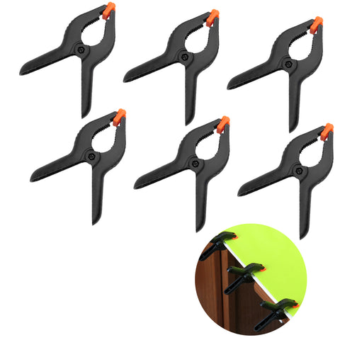 Evelots Spring Clamps-6 Inch LONG-Strong Grip Clips-Photo/Craft/Fabric