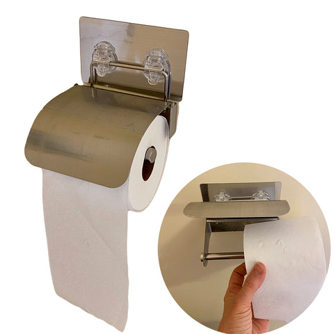 Evelots Toilet Paper Holder-Stainless Steel-Easy Install-No Tools Needed-Set/2