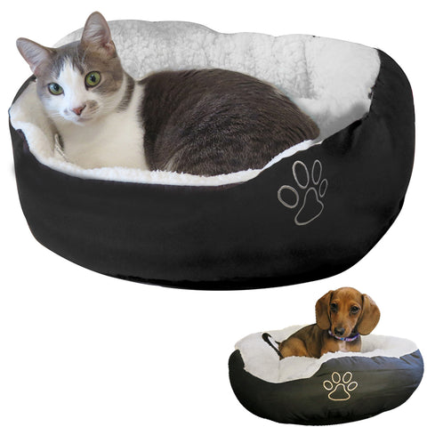 Evelots Pet Bed-Cat/Small Dog-Most Comfy-Very Thick/Warm-Easy Washing-2 Colors