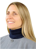 Evelots Womens Mock Turtleneck Collar-Knit Dickey-Windproof Neck/Chest-Gray/Navy