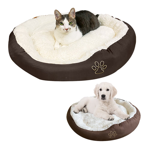 Evelots Cat/Dog Bed-Trap Heat in-Water Resistant Bottoms-Easy Washing-NEW MODEL