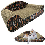 Evelots Kitty Cat Scratcher-Comfy Lounge Couch-Sturdy Cardboard-Claw Groomer