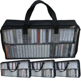 Evelots Cassette Tape Bag-Organizer-Carrier-Storage-Dust,Moisture Free-Holds 50