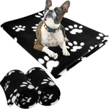 Evelots Pet/Personal Blanket-Cat/Dog Paws-Fleece-5 Foot Long-Asst.Colors