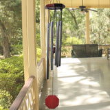 Evelots Wind Chime-Patio/Garden-Metal/Wood-6 Pipes-Relaxing Melody-30 Inch Long