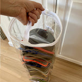 Evelots Giant Hat Storage Bag-30 Inch-Clear-Up to 100 Baseball/Trucker Cap-Set/2