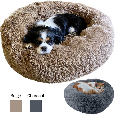 Evelots Pet Bed-Cat/Dog-Ultra Fluff Warm-Machine Washable-24 Inch-2 Asst. Colors