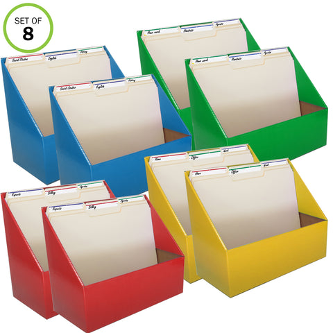 Evelots Home/Office Magazine/Folder Holder Organizers, Assorted Colors, Set/8
