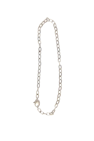silver paperclip chain - 24""
