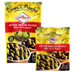 Chilli Pepper Pitted Green Olives