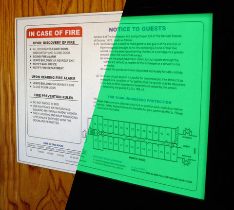 MagFrame (TM)  - Photoluminescent Illuminated map display encasement with Magnetic enclosure