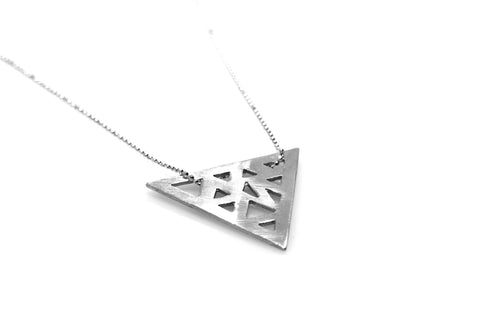 Triangular Necklace - Sterling Silver