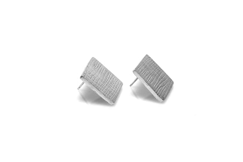 Grid Earrings - Silver