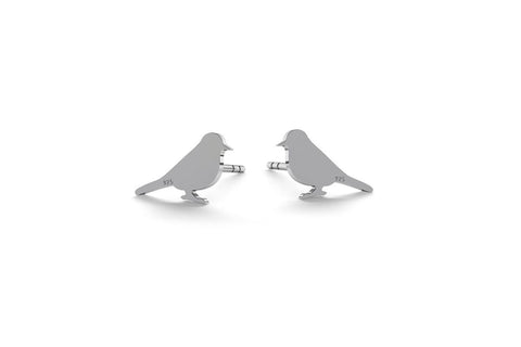 Tiny Bird Earrings - Silver