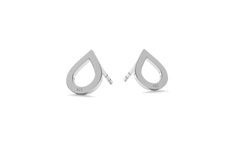 Small Drop Earrings - Silver