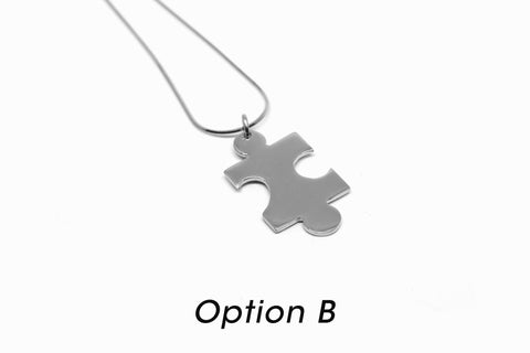 Puzzle Necklace - Silver