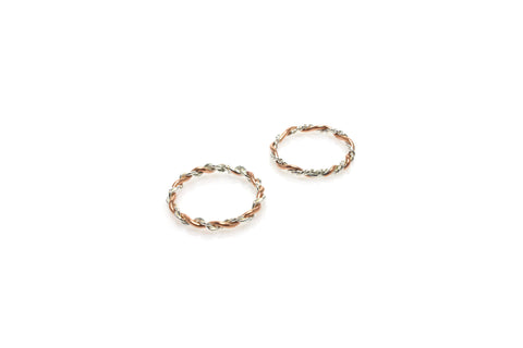 Twist Ring - Silver and Copper
