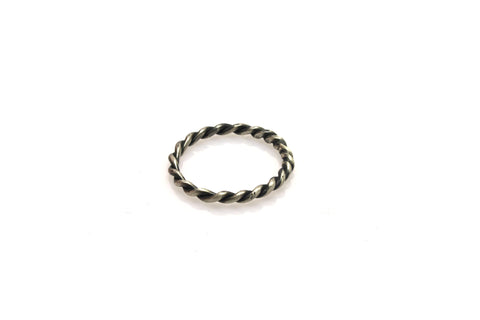 Twist Oxidized Ring - Silver