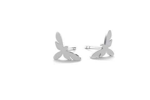 Tiny Butterfly Earrings - Silver