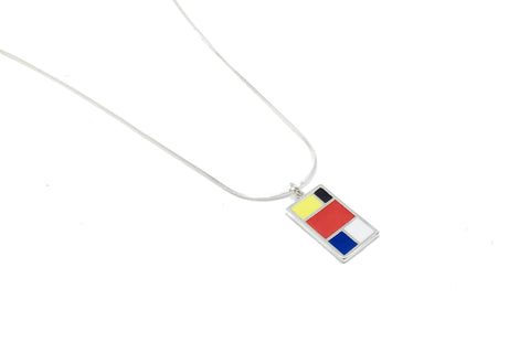 Mondrian Necklace - Silver