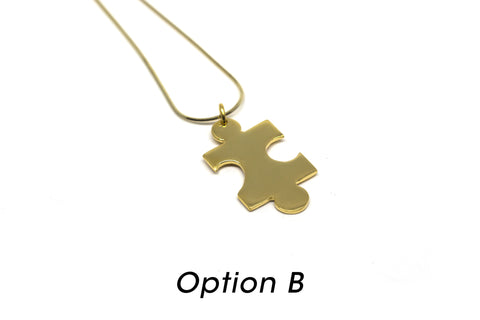 Puzzle Necklace - Gold Plated