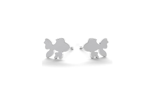Tiny Fish Earrings - Silver