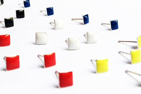 De Stijl Stud Earrings
