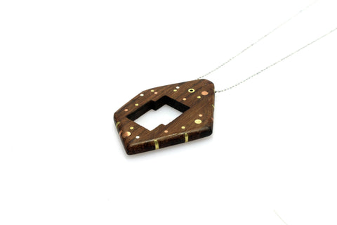 Galaxy Large Necklace - Wood