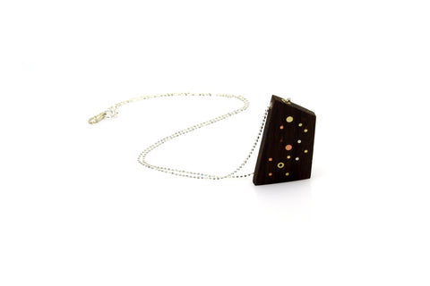 Galaxy Medium Necklace - Wood