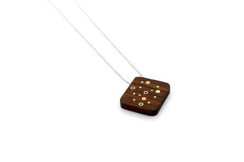 Galaxy Small Necklace - Wood