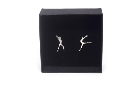 Gymnastics Earrings - Silver