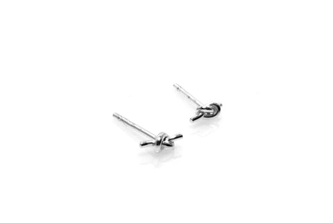 Knot Earrings - Silver