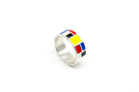 Mondrian FAT Ring - Silver