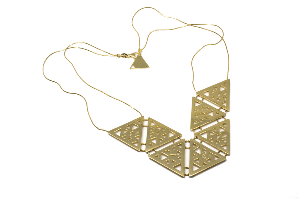 Triangular 7x Necklace - Gold plated