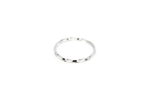 Twist Slim Ring - Silver