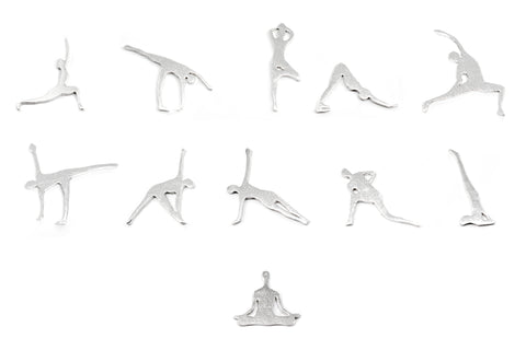 Yoga Earrings - Silver
