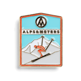 Enamel Ski Pins - Alps & Meters  - 3