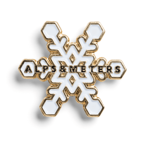 Enamel Ski Pins - Alps & Meters  - 2