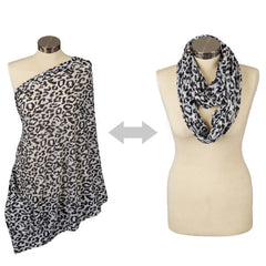 Itzy Ritzy Nursing Happens Infinity Breastfeeding Scarf Cheetah Girl