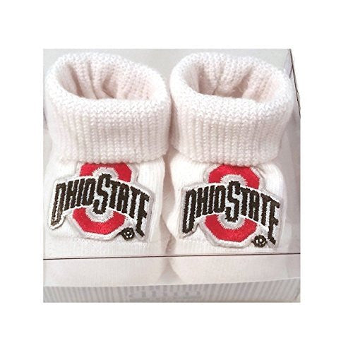 Ohio State Baby Booties Boxed Gift Set-NCAA LICENSED - Posh Babies
