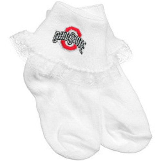 Ohio State Lace Infant Socks 0-9 Months - Posh Babies