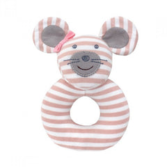 Organic Farm Buddies Rattle Ballerina Mouse