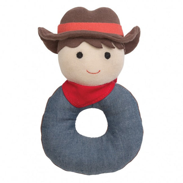 Organic Farm Buddies Rattle Barnyard Billy - Posh Babies