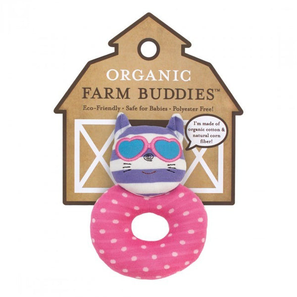 Organic Farm Buddies Rattle Catnip Kitty - Posh Babies