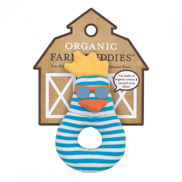 Organic Farm Buddies Rattle Surfer Chick - Posh Babies