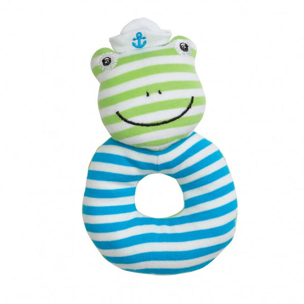 Organic Farm Buddies Rattle Skippy Frog - Posh Babies
