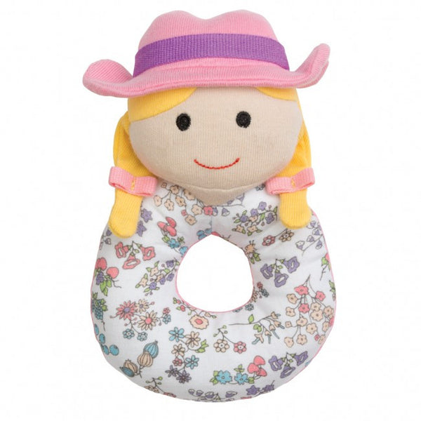 Organic Farm Buddies Rattle Susie Sunshine - Posh Babies