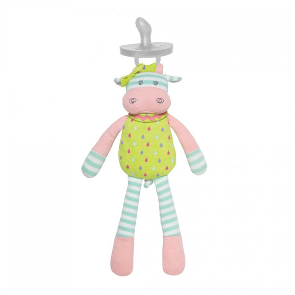Organic Farm Buddies Pacifier Buddies Belle Cow