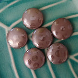 Contemporary Brown Dots 18mm Disk Ceramic Beads