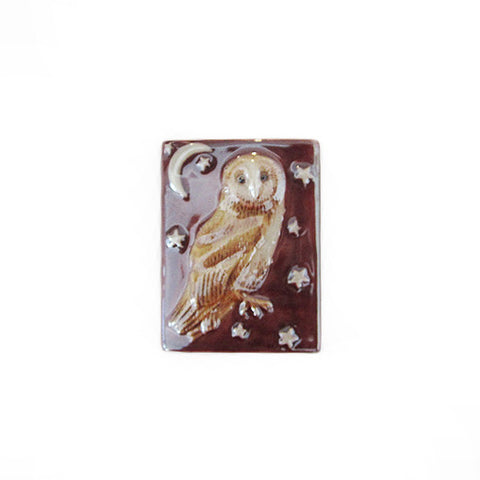 3C Studio Purple Owl and Stars Bead